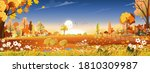 vector autumn landscape at... | Shutterstock .eps vector #1810309987