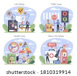 healthy lifestyle class set.... | Shutterstock .eps vector #1810319914