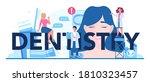 dentistry typographic header.... | Shutterstock .eps vector #1810323457
