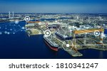 Modern Shipyard Aerial View And ...