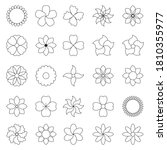 icon set of flower. trendy... | Shutterstock .eps vector #1810355977