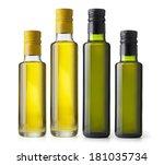 set bottles of virgin olive oil ...   Shutterstock . vector #181035734