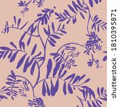 floral seamless pattern.... | Shutterstock .eps vector #1810395871