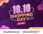 10.10 shopping day sale banner... | Shutterstock .eps vector #1810396057