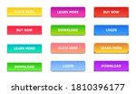 gradient buttons. rectangular... | Shutterstock .eps vector #1810396177