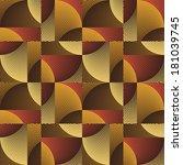 art abstract ornate geometric... | Shutterstock . vector #181039745