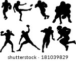 the set of football player... | Shutterstock .eps vector #181039829