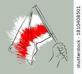 historical national flag of the ... | Shutterstock .eps vector #1810408501