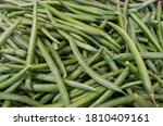 Raw Fresh Green String Bean...
