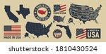 vector usa map  label  logo.... | Shutterstock .eps vector #1810430524