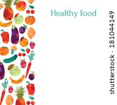 healthy food. colorful... | Shutterstock .eps vector #181044149