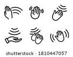 hand sensor. hand towel and... | Shutterstock .eps vector #1810447057