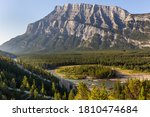 Mount Rundle And The Hoodoos In ...