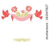 wedding invitation card.... | Shutterstock . vector #181047827