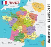 Vector Map Of France With...