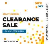 vector modern clearance sale...   Shutterstock .eps vector #1810521184