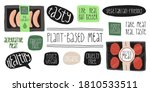 plant based meat set. grill... | Shutterstock .eps vector #1810533511