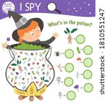 halloween i spy game for kids.... | Shutterstock .eps vector #1810551247