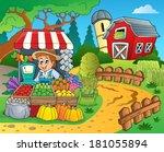 farmer theme image 8   eps10... | Shutterstock .eps vector #181055894