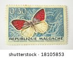 madagascar postage stamp with... | Shutterstock . vector #18105853