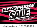 black friday sale poster layout ... | Shutterstock .eps vector #1810593121