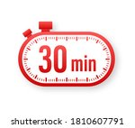the 30 minutes  stopwatch...   Shutterstock .eps vector #1810607791