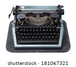 vintage typewriter isolated on... | Shutterstock . vector #181067321