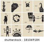 vector illustration of a set of ... | Shutterstock .eps vector #181069184