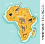 african animal. vector african... | Shutterstock .eps vector #1810702261