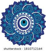 mandala greek evil eye vector   ... | Shutterstock .eps vector #1810712164