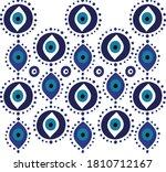 mandala greek evil eye vector   ... | Shutterstock .eps vector #1810712167