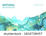 blue  green  white and gold...   Shutterstock .eps vector #1810728457