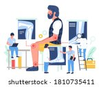 elbow  knee and ankle arthritis....   Shutterstock .eps vector #1810735411