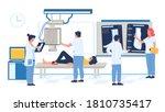 fluoroscopy exam in hospital ... | Shutterstock .eps vector #1810735417