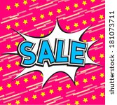 sale comic speech bubble | Shutterstock .eps vector #181073711