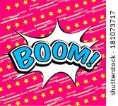 boom comic speech bubble | Shutterstock .eps vector #181073717