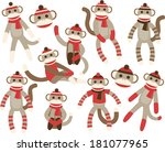 Sock Monkeys - Red