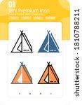tent premium icon with multiple ...