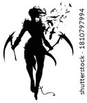 The Black Silhouette Of A...