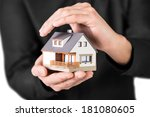 home insurance concept. house... | Shutterstock . vector #181080605