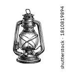 kerosene lamp. vintage oil...   Shutterstock .eps vector #1810819894