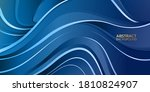 abstract blue background. swirl ... | Shutterstock .eps vector #1810824907