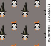 seamless pattern with penguin.... | Shutterstock .eps vector #1810832371