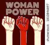 woman power. female political... | Shutterstock .eps vector #1810846897