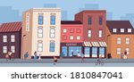 colorful cityscape with... | Shutterstock .eps vector #1810847041