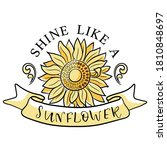 Sunflower Design With Sunshine...