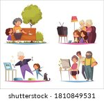 grandma and grandpa concept... | Shutterstock .eps vector #1810849531