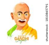 vector illustration of mahatma... | Shutterstock .eps vector #1810865791