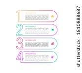 vector infographic thin line... | Shutterstock .eps vector #1810888687
