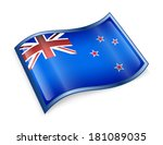 new zealand flag icon  isolated ... | Shutterstock . vector #181089035